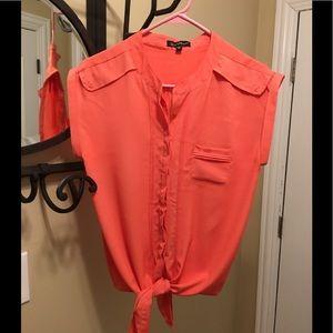 Velvet Heart Orange top